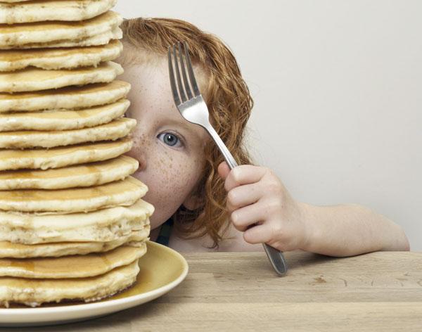 Big stack of pancakes