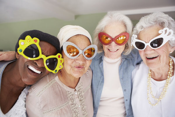 Funky grandmas in glasses
