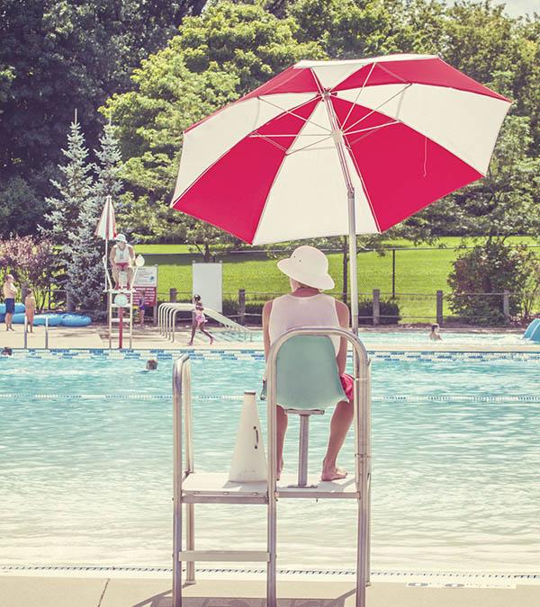 Lifeguard at pool