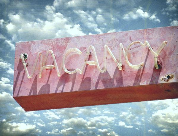 Vintage neon road side vacancy sign