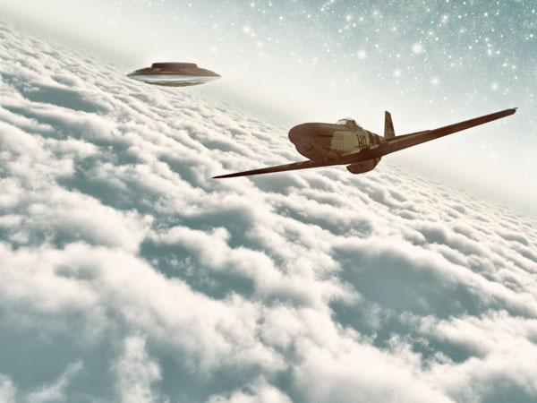 Plane meets UFO