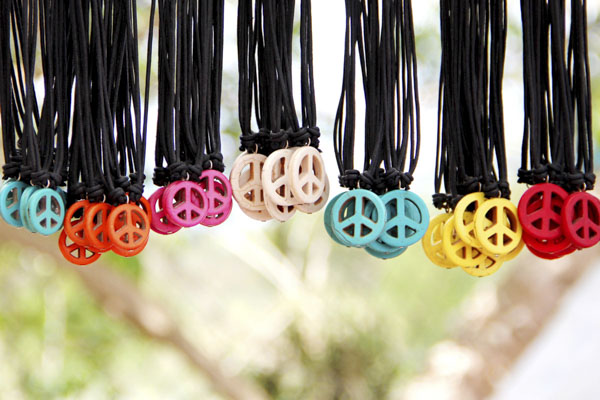 Peace necklaces in all colors