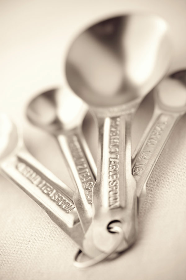 Metal measuring spoons
