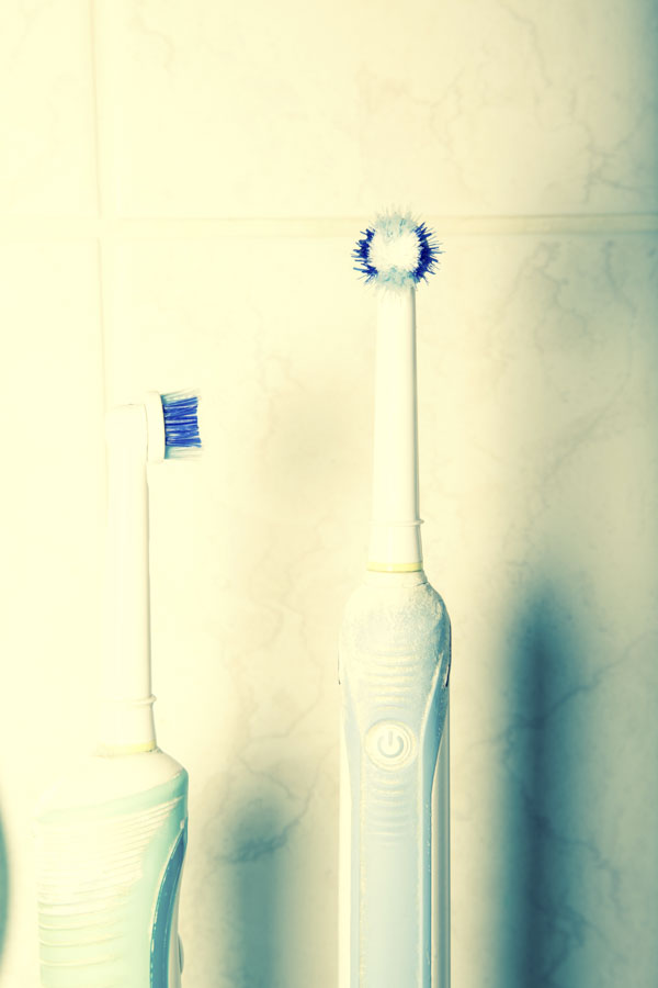 Two electric toothbrushes