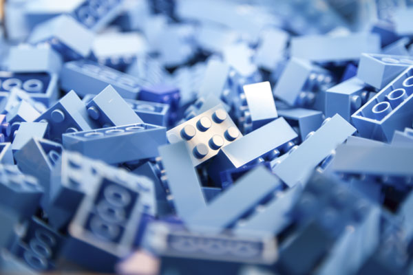 Baby blue blocks