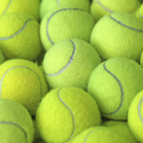 Lime green tennis balls
