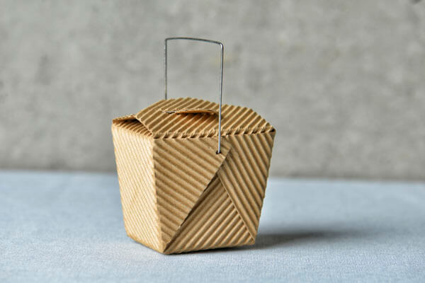 Cardboard food take out container