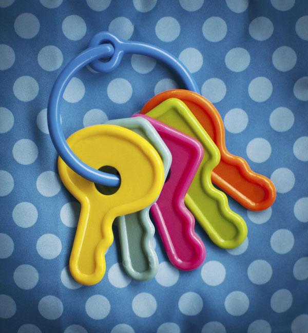 Baby toy keys