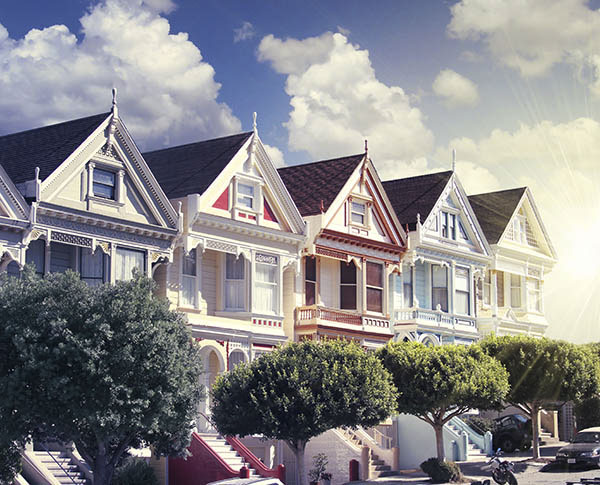 The Painted Ladies Victorian Houses of San Francisco
