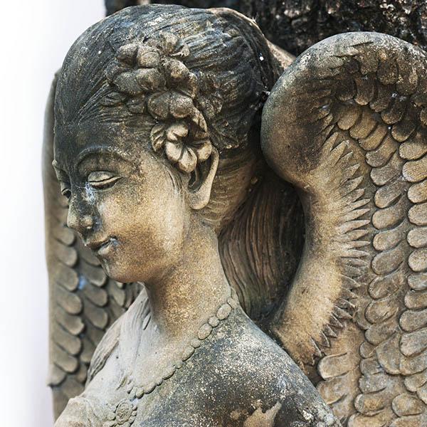 Ancient beautiful angel statue