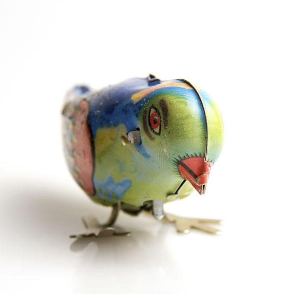 Vintage wind up toy bird