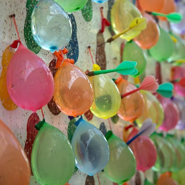 Water balloons and darts at carnival